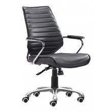 See Details - Enterprise Low Back Office Chair Black
