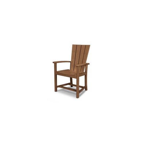 Polywood Furnishings - Quattro Adirondack Dining Chair in Teak