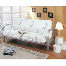 See Details - Transitional Silver Futon Frame