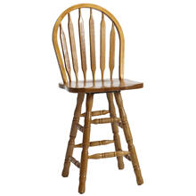 See Details - Classic Oak Chestnut Wide Arrow Counter Stool