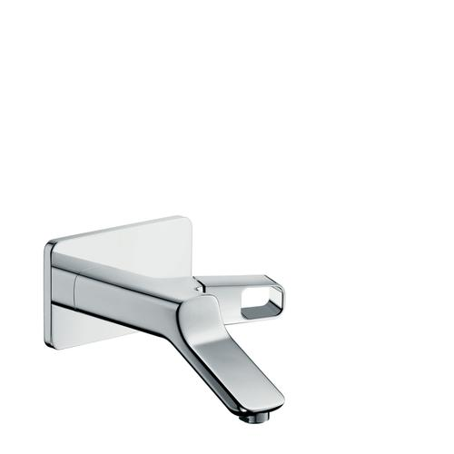 Brushed Red Gold Single lever basin mixer for concealed installation wall-mounted with spout 200 mm