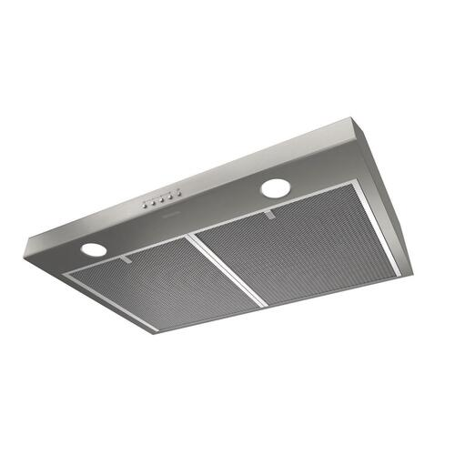 Broan® 30-Inch Convertible Under-Cabinet Range Hood w/ LED Light, Stainless Steel