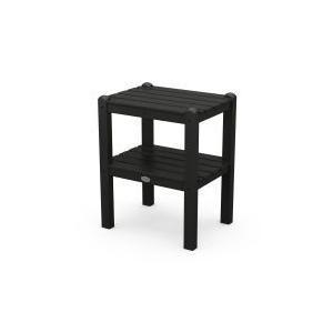 Polywood Furnishings - Two Shelf Side Table in Black