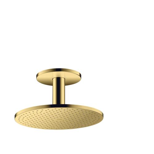 Polished Gold Optic Overhead shower 300 1jet with ceiling connection