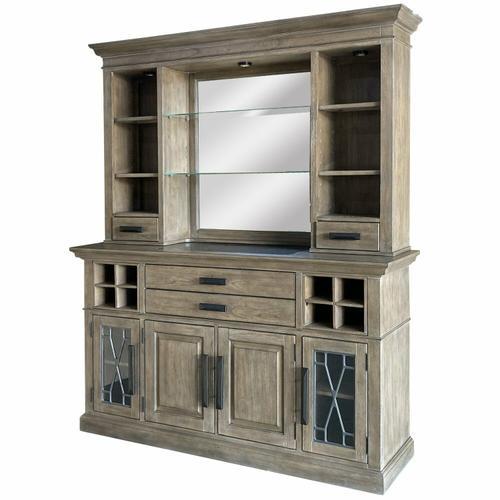 Parker House - SUNDANCE - SANDSTONE 2pc 66 in. Buffet / Bar Display Hutch with quartz insert