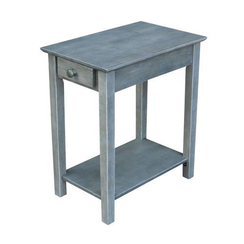 John Thomas Furniture - Narrow End Table in Heather Gray