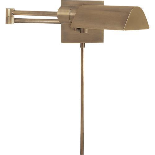 Studio 25 inch 60.00 watt Antique Nickel Swing-Arm Wall Light