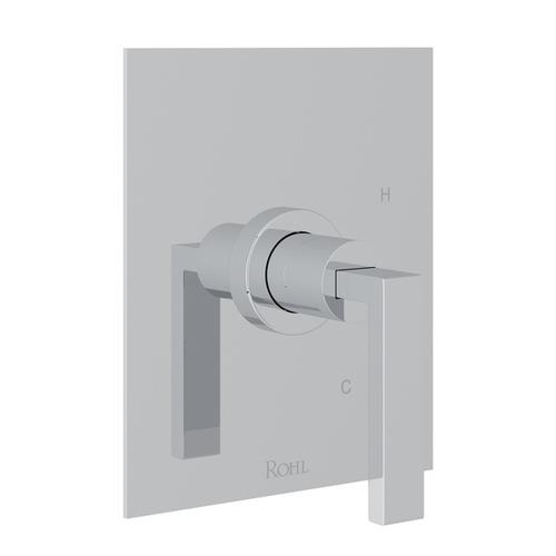 Polished Chrome Wave Pressure Balance Trim Without Diverter with Wave Metal Lever