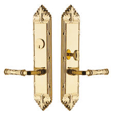 Non-Lacquered Brass Fenwick Escutcheon Entrance Set