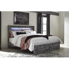 Baystorm - Gray 4 Piece Bed (King)