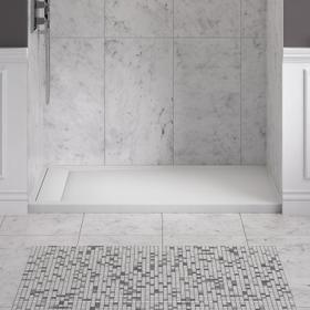 Townsend 60x30-inch Solid Surface Shower Base - Left Drain  American Standard - Soft White
