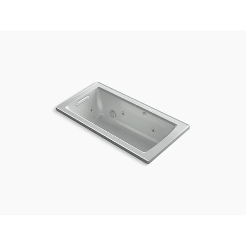 "Ice Grey 60"" X 30"" Drop-in Whirlpool Bath With Heat and Comfort Depth Design"