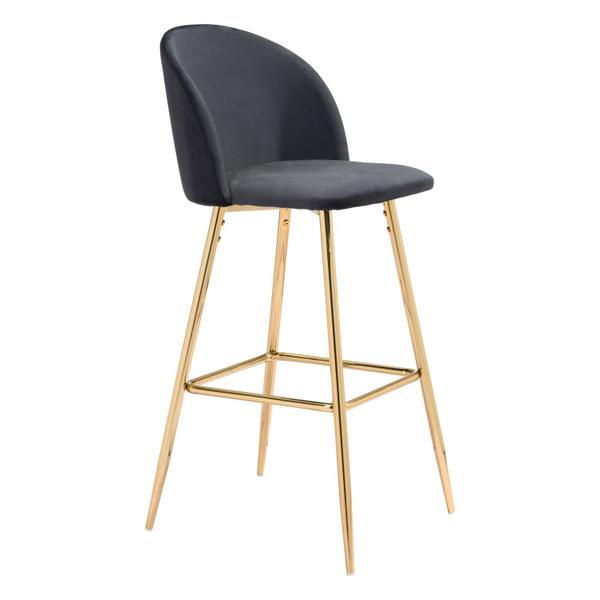 See Details - Cozy Bar Chair Black