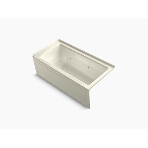 "Biscuit 60"" X 30"" Alcove Whirlpool With Integral Flange and Right-hand Drain"