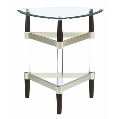 End Table - Glass/Lucite Finish