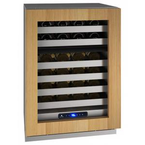 """U-LineHwd524 24"""" Dual-zone Wine Refrigerator With Integrated Frame Finish and Field Reversible Door Swing (115 V/60 Hz Volts /60 Hz Hz)"""