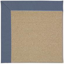 Creative Concepts-Sisal Canvas Sapphire Blue Machine Tufted Rugs
