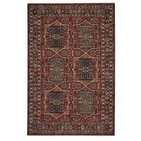 """Lineage-Qashqai Red Navy - Rectangle - 3'11"""" x 4'11"""""""