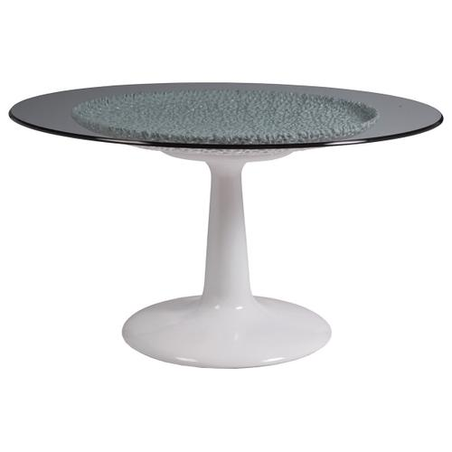 Seascape White Dining Table With Glass Top