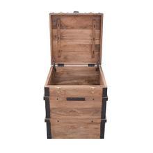 See Details - Storage Trunk - Burn Natural Finish