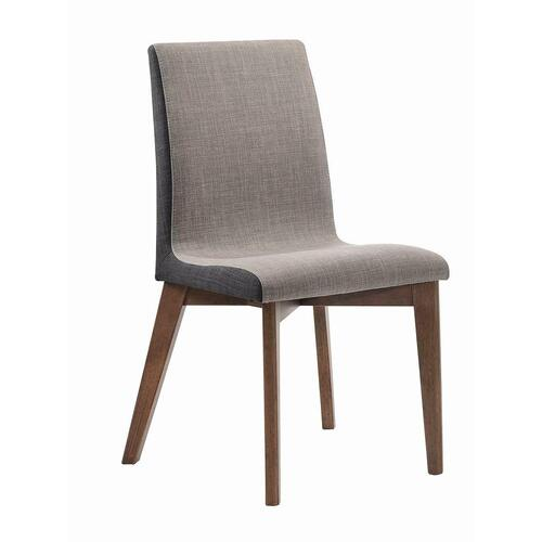 Redbridge Mid-century Modern Natural Walnut Dining Chair