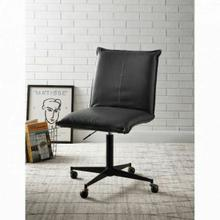 ACME Airmont Office Chair w/Lift - 92815 - Industrial - PU, Frame: Wood, Foam, Metal Base, Caster Wheels - Onyx PU and Black