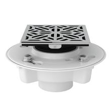 See Details - PVC 2 Inch X 3 Inch Drain Kit with Mosaic Decorative Cover - Polished Chrome