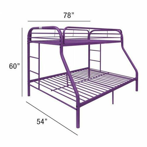 ACME Tritan Twin/Full Bunk Bed - 02053PU - Purple