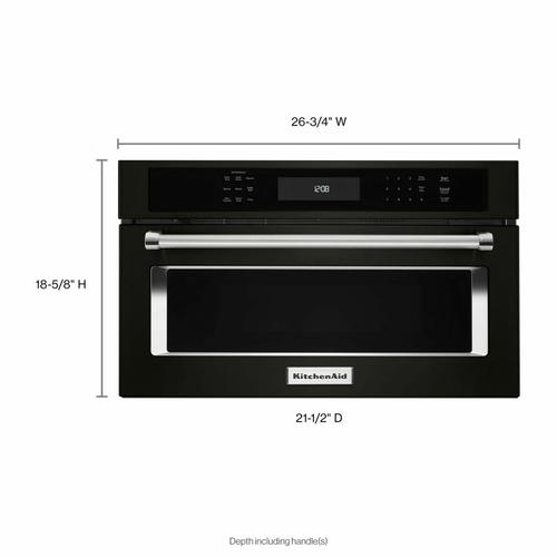 """KitchenAid - 27"""" Built In Microwave Oven with Convection Cooking - Black Stainless Steel with PrintShield™ Finish"""