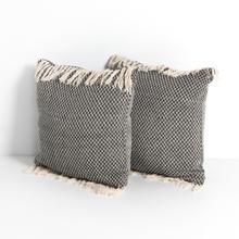 See Details - Davis Pillow-diamond Stitch With Fringe