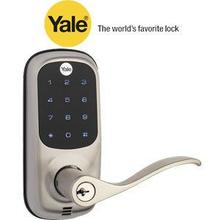Satin Nickel TouchScreen Lever Lock