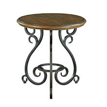 Portolone Accent Table W/ Metal Base