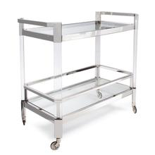 View Product - Stainless Steel and Acrylic Bar Cart