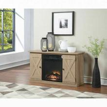 ACME Eladio TV Stand (Optional Fireplace) - 91376 - Farmhouse - Melamine Veneer, Paper Veneer, PB, Ply - Natural