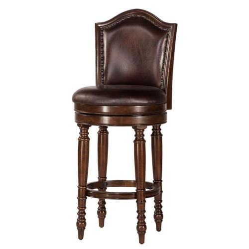 Hillsdale Furniture - Barcelona Wood Counter Height Swivel Stool, Brown Cherry