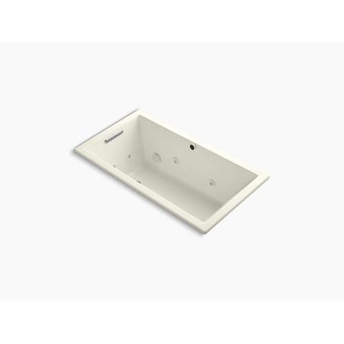 """Biscuit 60"""" X 32"""" Heated Whirlpool Bath With Reversible Drain"""