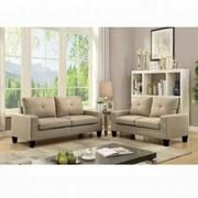 ACME Platinum II Sofa & Loveseat - 52740 - Beige Linen Product Image