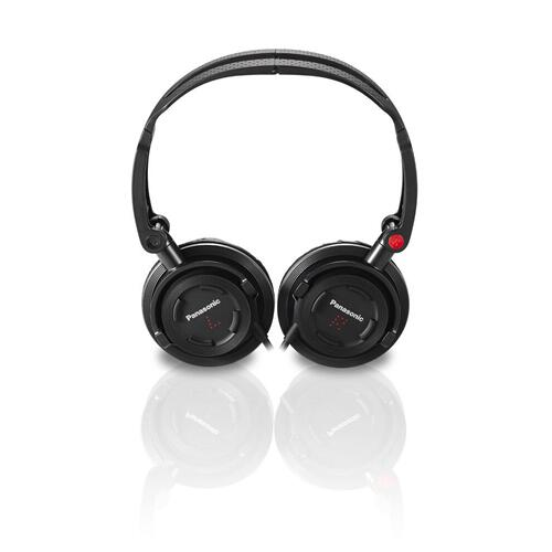 FOLDZ® On-Ear Stereo Headphones with Mic/Controller - Black - RP-DJS150M-K