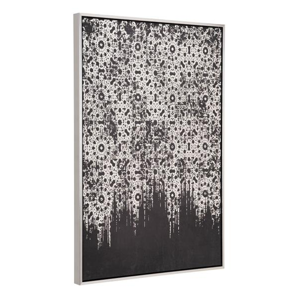 See Details - Industry Canvas Wall Art Silver & Black