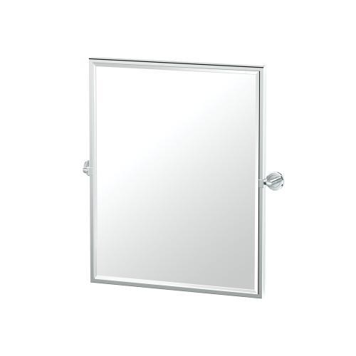 Latitude2 Framed Rectangle Mirror in Chrome