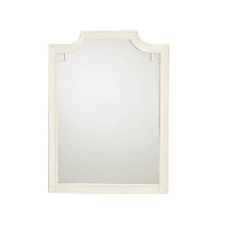 Latitude Vertical Mirror - Saltbox White