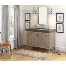 """Sophie 48"""" Bathroom Vanity Cabinet Base in Aged Oak"""