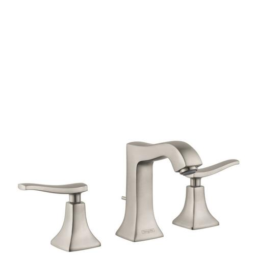 Brushed Nickel Widespread Faucet 100 with Pop-Up Drain, 1.2 GPM
