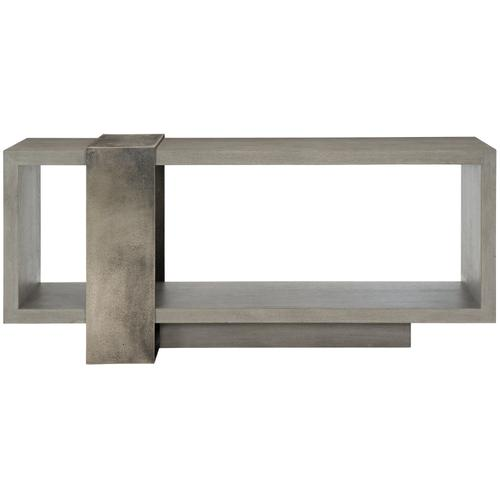 Linea Console Table in Textured Graphite Metal (384)