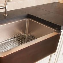 See Details - Copper/stainless Farmhouse Sink Stainless Steel / Stainless Steel Sink Grid