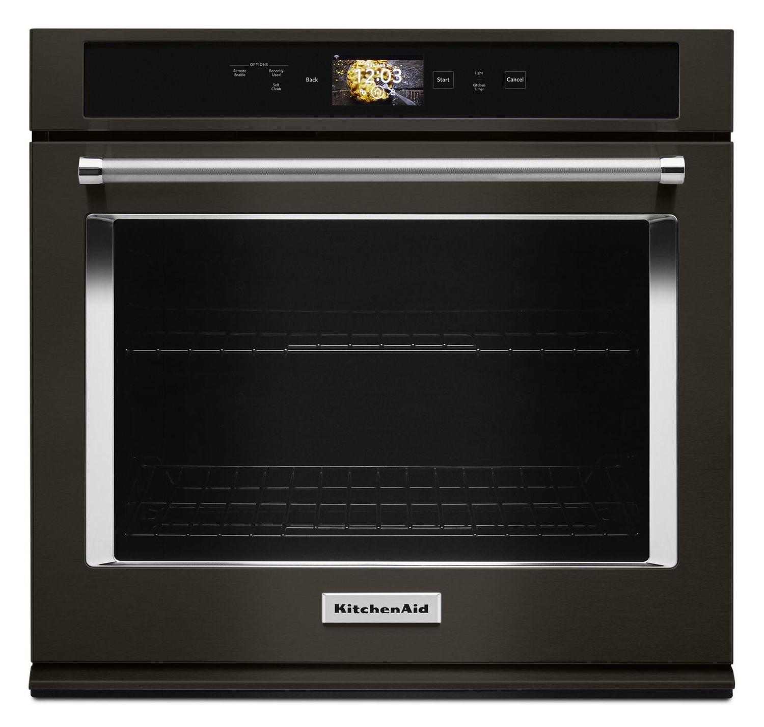 """KitchenAidSmart Oven+ 30"""" Single Oven With Powered Attachments And Printshield™ Finish Black Stainless Steel With Printshield™ Finish"""
