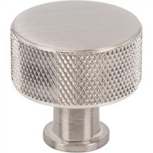 View Product - Beliza Cylinder Knurled Knob 1 1/8 Inch Brushed Satin Nickel