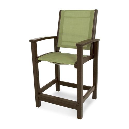 Mahogany & Kiwi Coastal Counter Chair