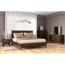 See Details - Modrest Novak Modern Dark Oak Bed