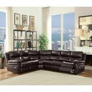 ACME Lavinia Sectional Sofa (Motion) - 53955 - Espresso Leather-Aire Product Image